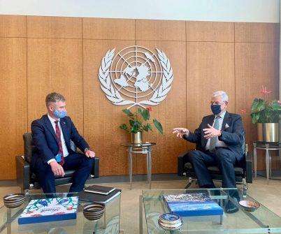 Голова НАЗК Олександ Новіков зустрівся з Президентом Генеральної Асамблеї ООН Волканом Бозкіром